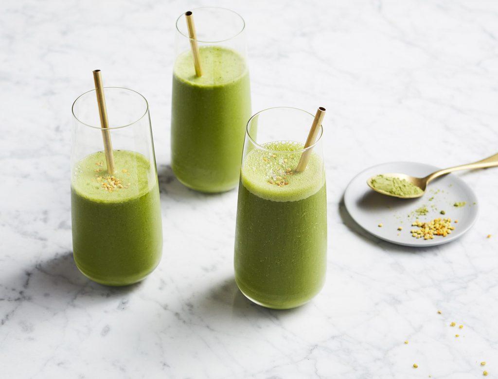 Cucumber Green Tea Detox Smoothie getfitqueen